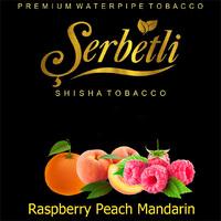 Табак для кальяна Serbetli (Малина персик мандарин) Raspberry Peach Mandarin 500 грамм